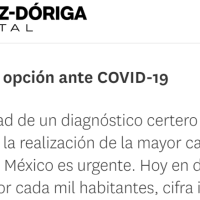 Alianza Glitzi-Vianto «Telesalud, opción ante COVID-19 lopezdoriga.com»