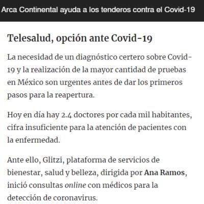 «Telesalud Glitzi, opción ante Covid-19» (elfinanciero.com.mx)