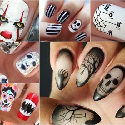 Ideas de uñas para Día de muertos