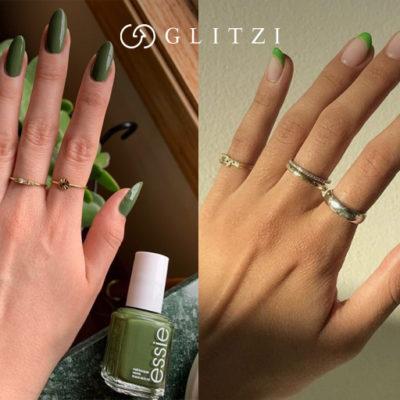 Look verde del Día de San Patricio para uñas y cabello